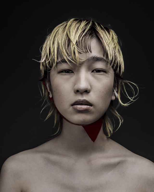 model : purina hair: take make: yama photo: misuzu
